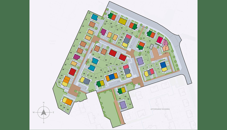 Castle Meadows Siteplan